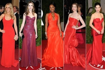 2011 Oscars Celebrity Red Dresses Fashion Trend