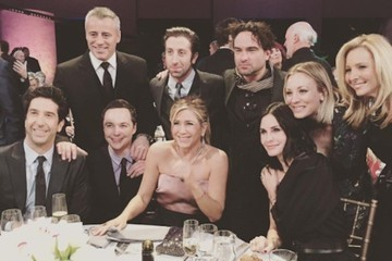The 'Friends' Cast Reunited and Hung Out With the Stars of 'The Big Bang Theory'