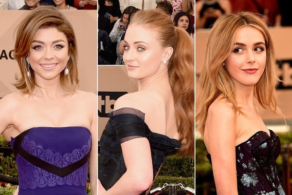 Sarah Hyland, Sophie Turner, and Kiernan Shipka Look More Grown Up Than Ever at the SAG Awards