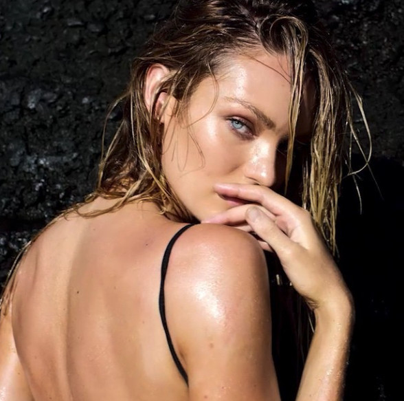 Candice Swanepoel masters the seduction look.
