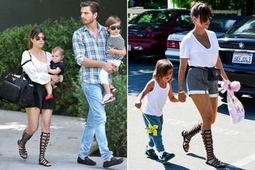 Get the Look - Kourtney Kardashian's Favorite Gladiator Sandals