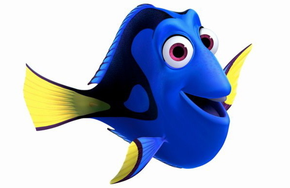 the finding dory image has been released screen