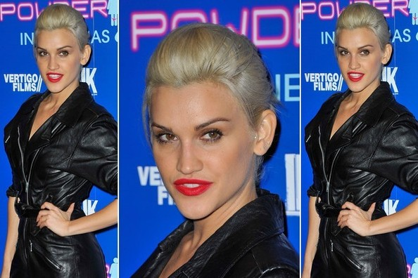 Ashley Roberts Shows Us the Cool New Way to Wear Red Lipstick