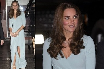 Princess Kate Looks Stunning in Baby Blue
