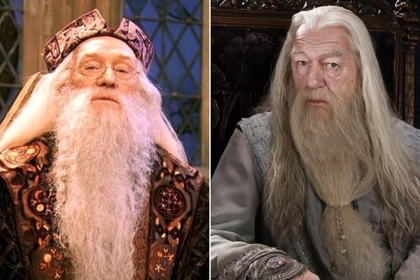 michael gambon was the better dumbledore and its not even