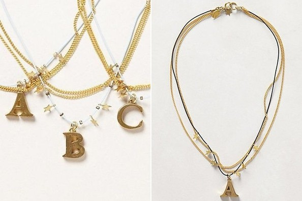 Daily Deal: Initial Necklace From Anthropologie