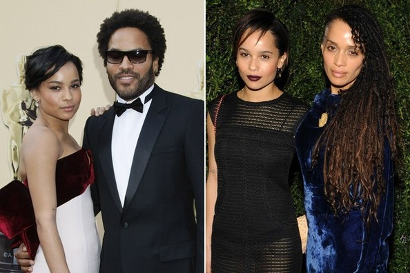 Lenny Kravitz And Lisa Bonet Match The Rising Star To