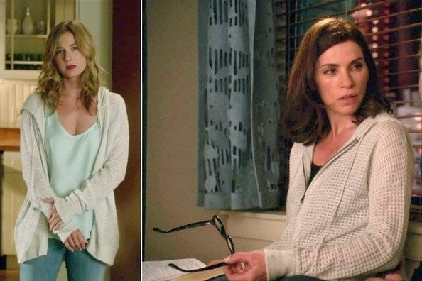 Seeing Double: Emily VanCamp and Julianna Margulies Cover Up in the Same Cashmere Sweater
