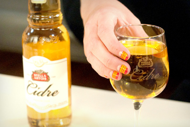 Sips and Tips: A Crisp Cidre and Striped-Tip Mani