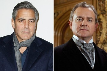 George Clooney Visits 'Downton Abbey'
