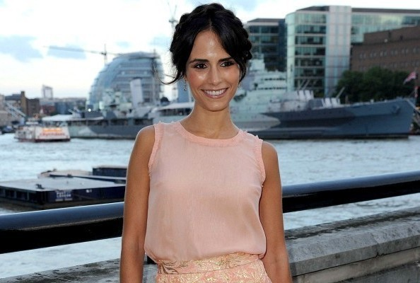 Look of the Day: Jordana Brewster's Peachy Brocade