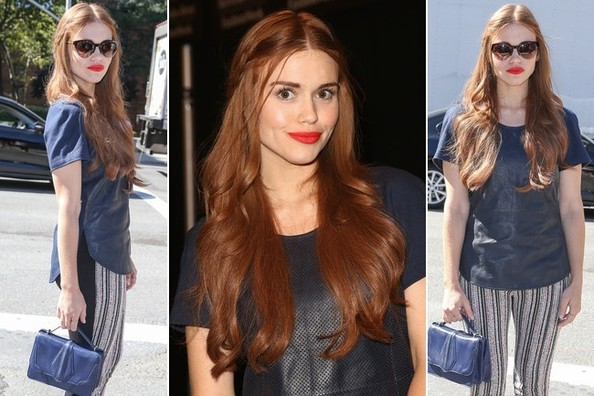 Holland Roden Shows Us How to Rock Red Lipstick With Red Hair