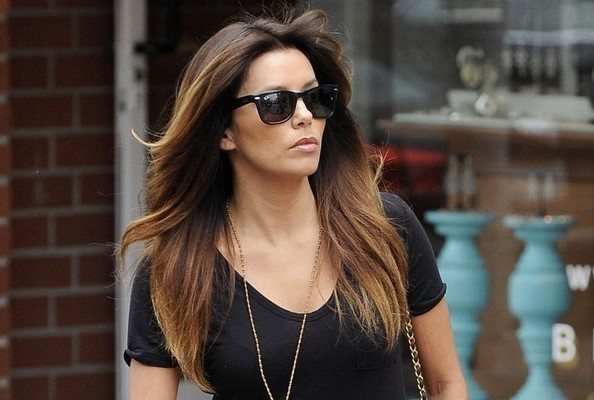 Eva Longoria's Black and Gold Street Style