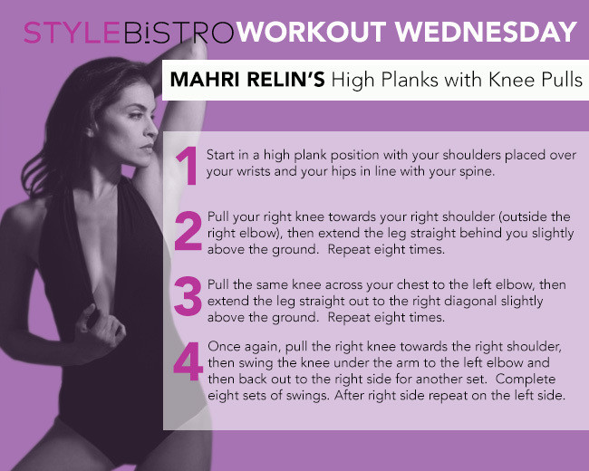Workout Wednesday: Mahri Relin's High Planks with Knee Pulls