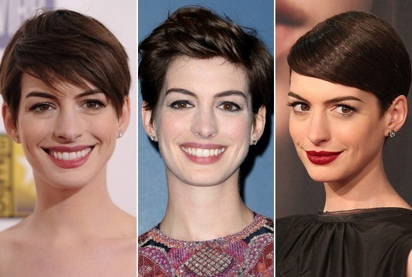 1 Cut, 5 Different Looks: Anne Hathaway's Pixie Styling Inspiration
