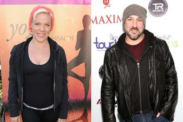 Pink and Joey Fatone