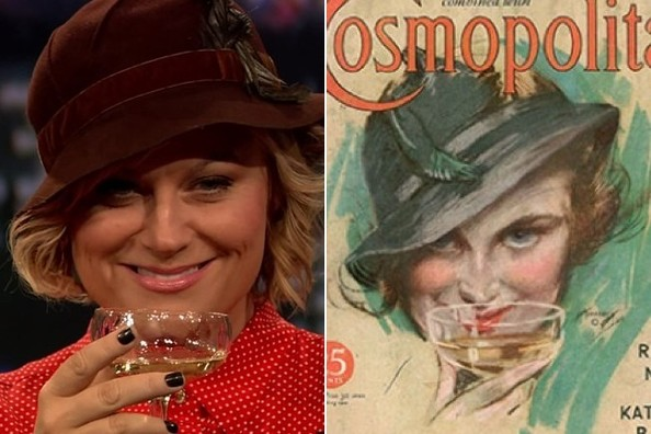 Jimmy Fallon Made Amy Poehler Dress Up Like Her 1934 'Cosmo' Cover Doppelganger [VIDEO]
