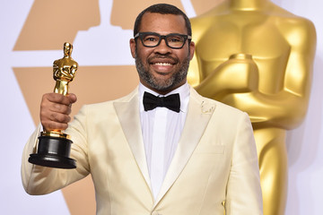 Jordan Peele's Oscar Statue Now Has A Forever Home Right Next To This Creepy Prop From 'Get Out'
