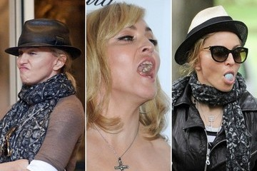 The Many Awkward Faces of Madonna