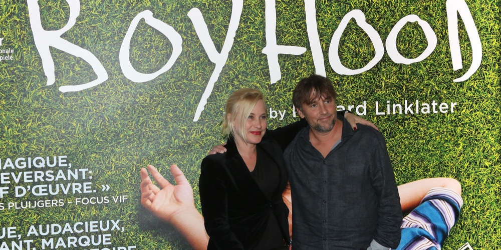 (L-R) Patricia Arquette and Richard Linklater at the premiere of <em>Boyhood</em> on June 21, 2014 in Brussels, Belgium. (Getty Images)
