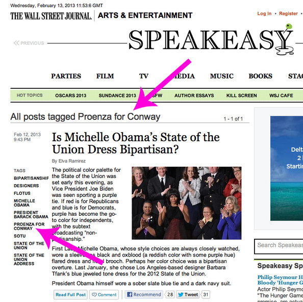 SHADE ALERT: 'Wall Street Journal' Dubs Michelle Obama's Jason Wu Dress 'Proenza for Conway'