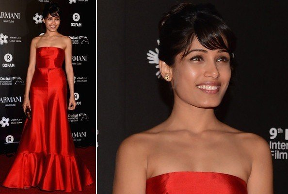 Freida Pinto's Vintage Red Dress