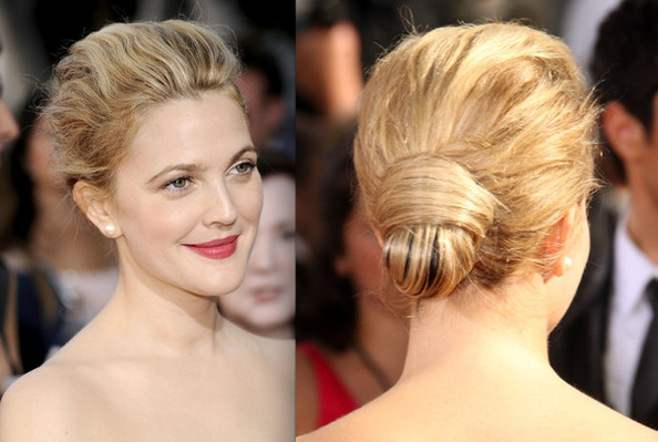 Try this interesting bun with added texture for a softened appeal. more pics