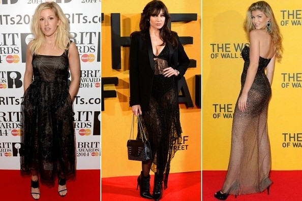 Was Anyone in London NOT Wearing Something Sheer on the Red Carpet Last Night?!