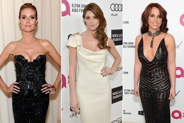 Sexy Stars at the Elton John Oscar Viewing Party