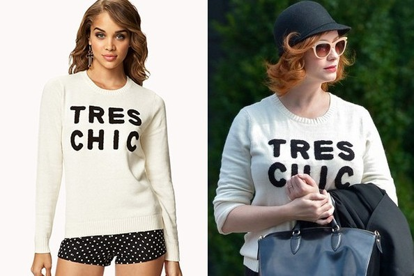 Found: Christina Hendricks' Tres Chic Sweater