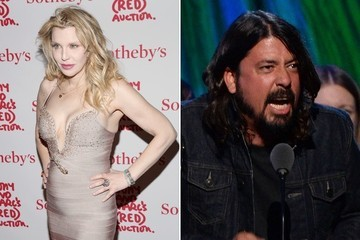 One of Rock's Most Notorious Feuds Has Come to an End: Courtney Love and Dave Grohl Hug It Out