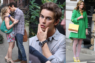 Stars on the Set of 'Gossip Girl'