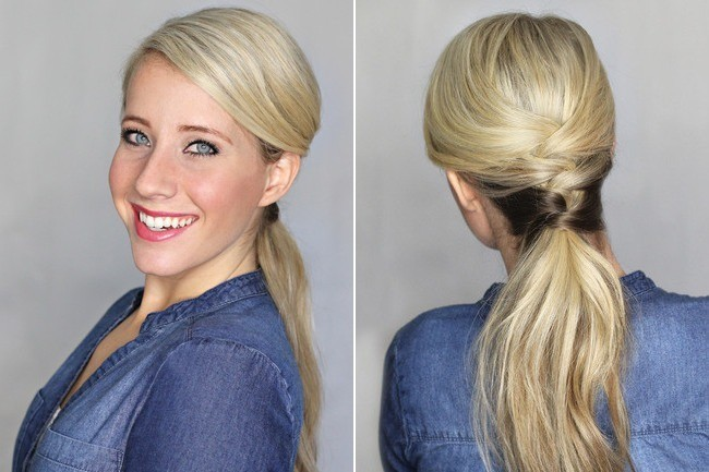Spruce Up Your Work-Week Pony with a DIY Crisscross Weave