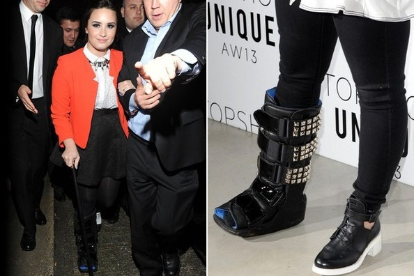 Demi Lovato Bedazzles Her Cast, Becomes Our New Imaginary Best Friend