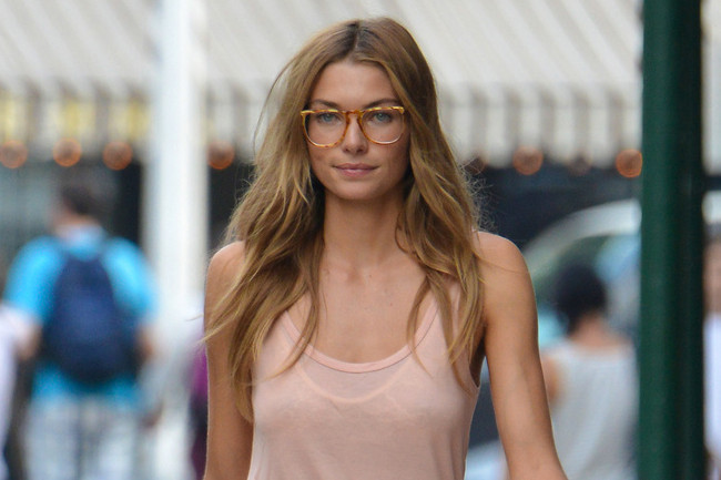 Jessica Hart Perfects the Art of Tomboy Chic
