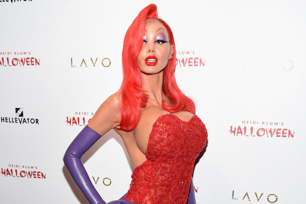 Heidi Klum Transforms into Jessica Rabbit on Halloween Night - For ...