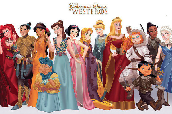 3151d17537 Disney Princesses Get a  Game of Thrones  Makeover - For The Win ...