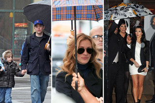 Celebrities with Umbrellas