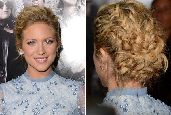 Braid of the Day: Brittany Snow's Intricate Updo