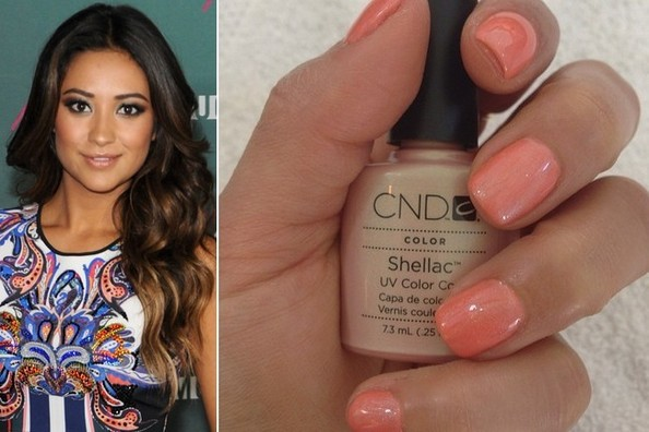 Get the Look: Shay Mitchell's Beachy Coral Nail Color