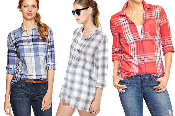 Easy Oufit Upgrade: Tie a Plaid Shirt Around Your Waist