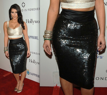 Kim - The Sequin Pencil Skirt - Livingly