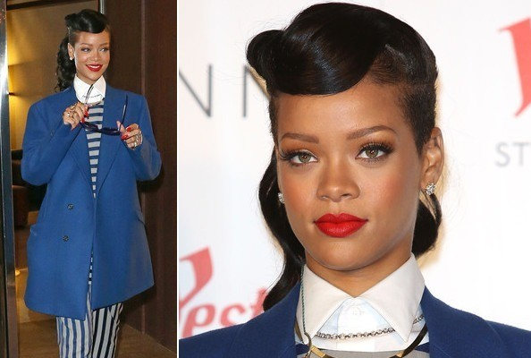 Rihanna Sings the Blues in Brights & Stripes