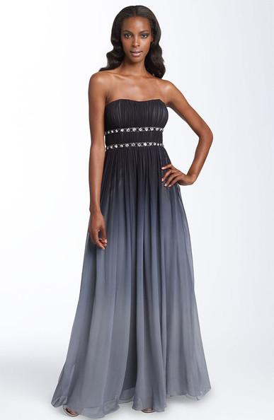 adb15bfd315 Adrianna Papell Strapless Ombré Silk Gown Price   198. Available at  Nordstrom