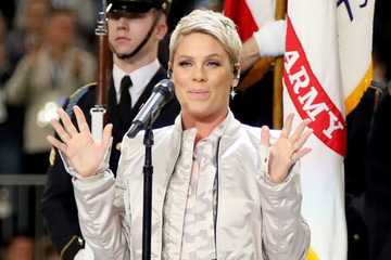 Only Pink Could Make Spitting Something Onto the Super Bowl Field Charming AF