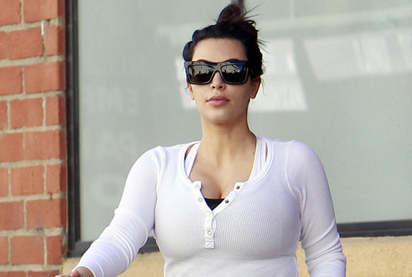 Pregnant Kim Kardashian's Boobs Increased FOUR Cup Sizes! [PHOTOS]
