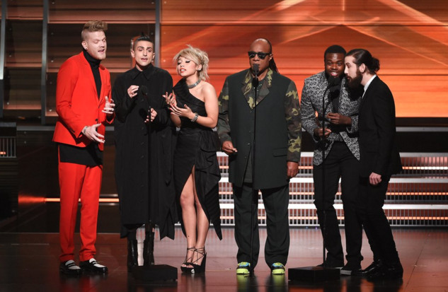 Stevie Wonder and Pentatonix Draw Standing Ovation at Grammys