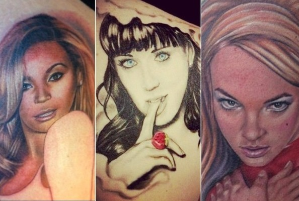 Tattoos of Famous Musicians' Faces