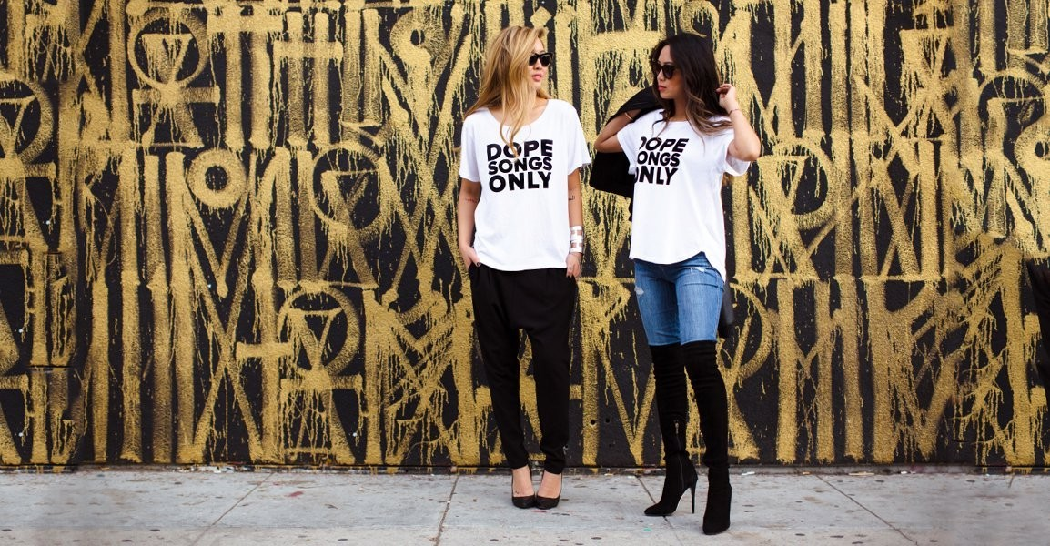 Blogger Aimee Song Launches a T-Shirt Line with Her Sister