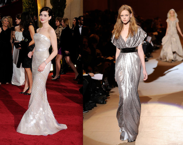 anne hathaway oscars 2010 dress